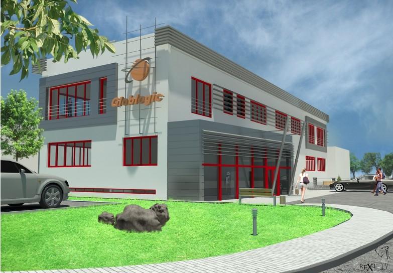 Projekt budynku firmowego - REXI