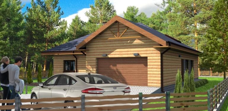 Projekt domu drewnianego - REXI
